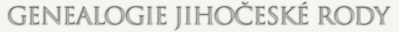 Genealogie Jihočeské rody